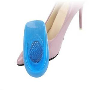 Silicone Gel Shoes Insoles Heel Shock Absorbing Anti Slip Feet Care