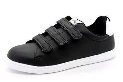 H&M Kids UK 13 EU 32 Black & White New York Street Vibe Touch Close New Trainers