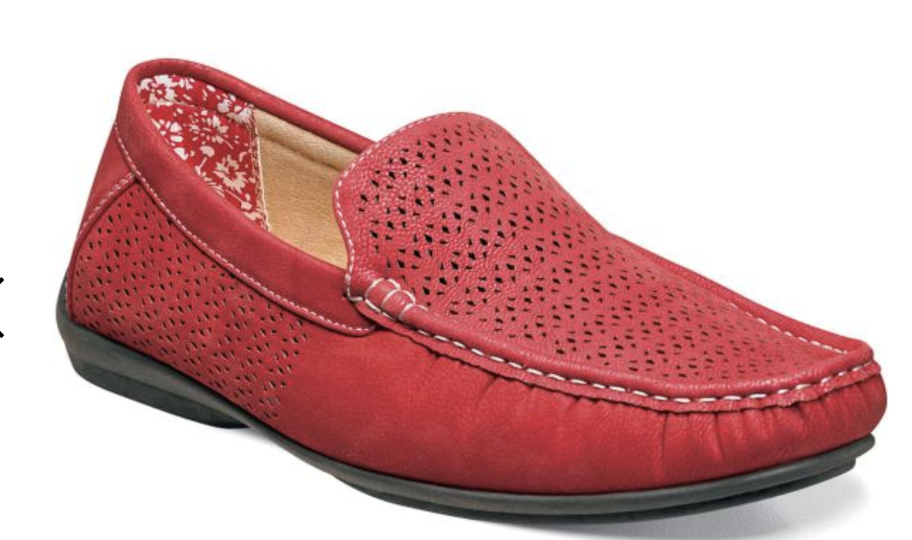 Stacy Adams shoes Cicero Perfed  Slip On Red 25172-600
