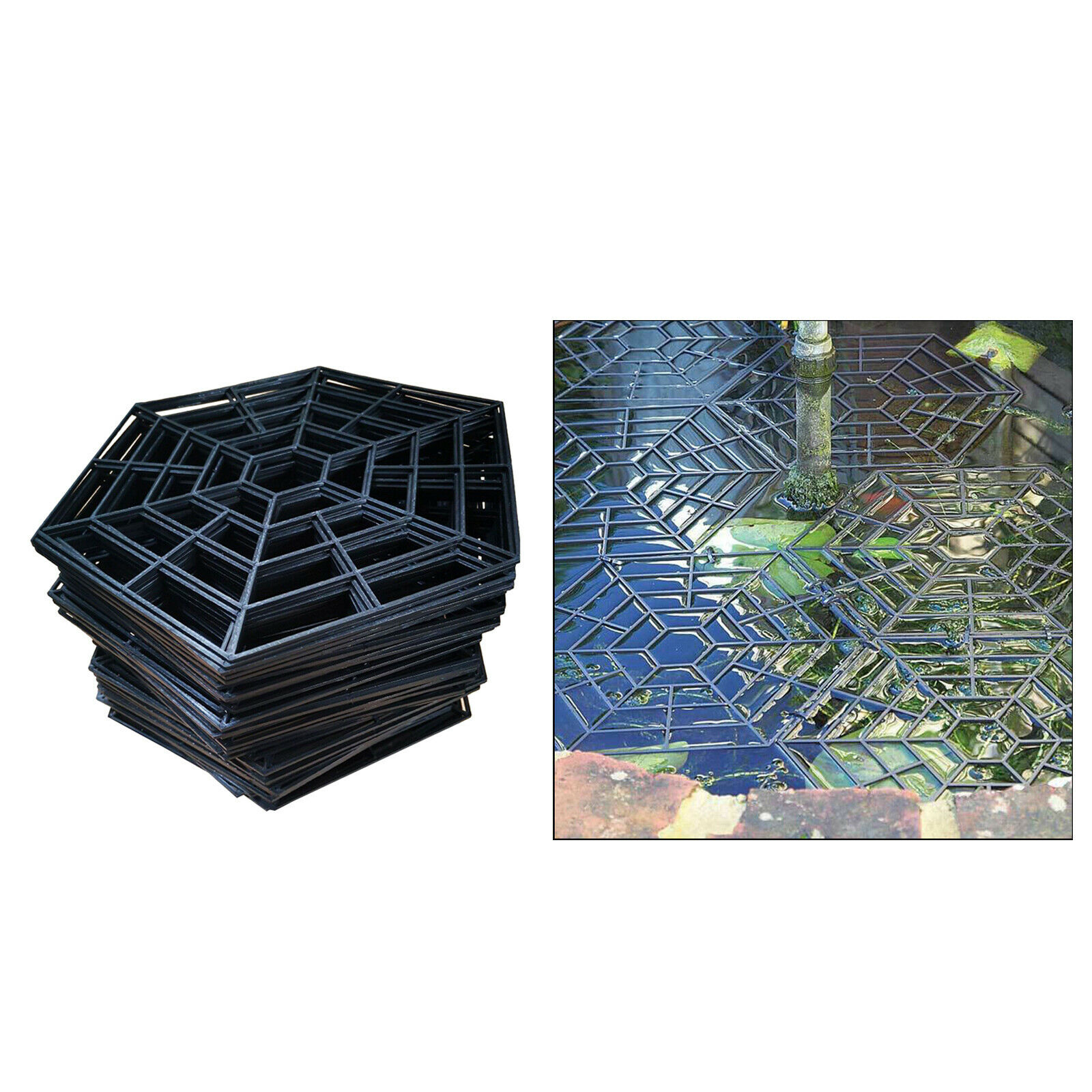 20 PCS Fish Guard Grid Protective Guard Netting Lightweight Pond Protector