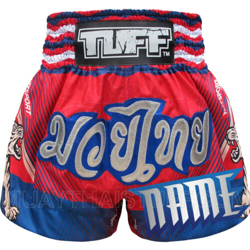 TUFF Muay Thai Kick Boxing Shorts MS6B Custom Free Add Name Personalize MMA