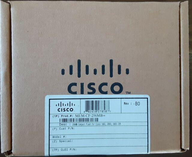 MEM-CF-256MB 256MB Flash Card Original For Cisco 1900 2900 3900 Series Routers