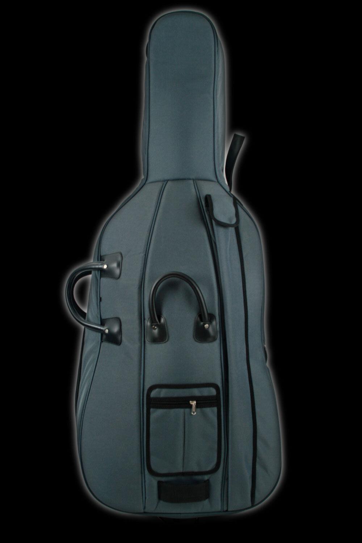 HÖFNER Deluxe 4 4 Cellotasche grau-schwarz, dick gepolstert - Cello Bag