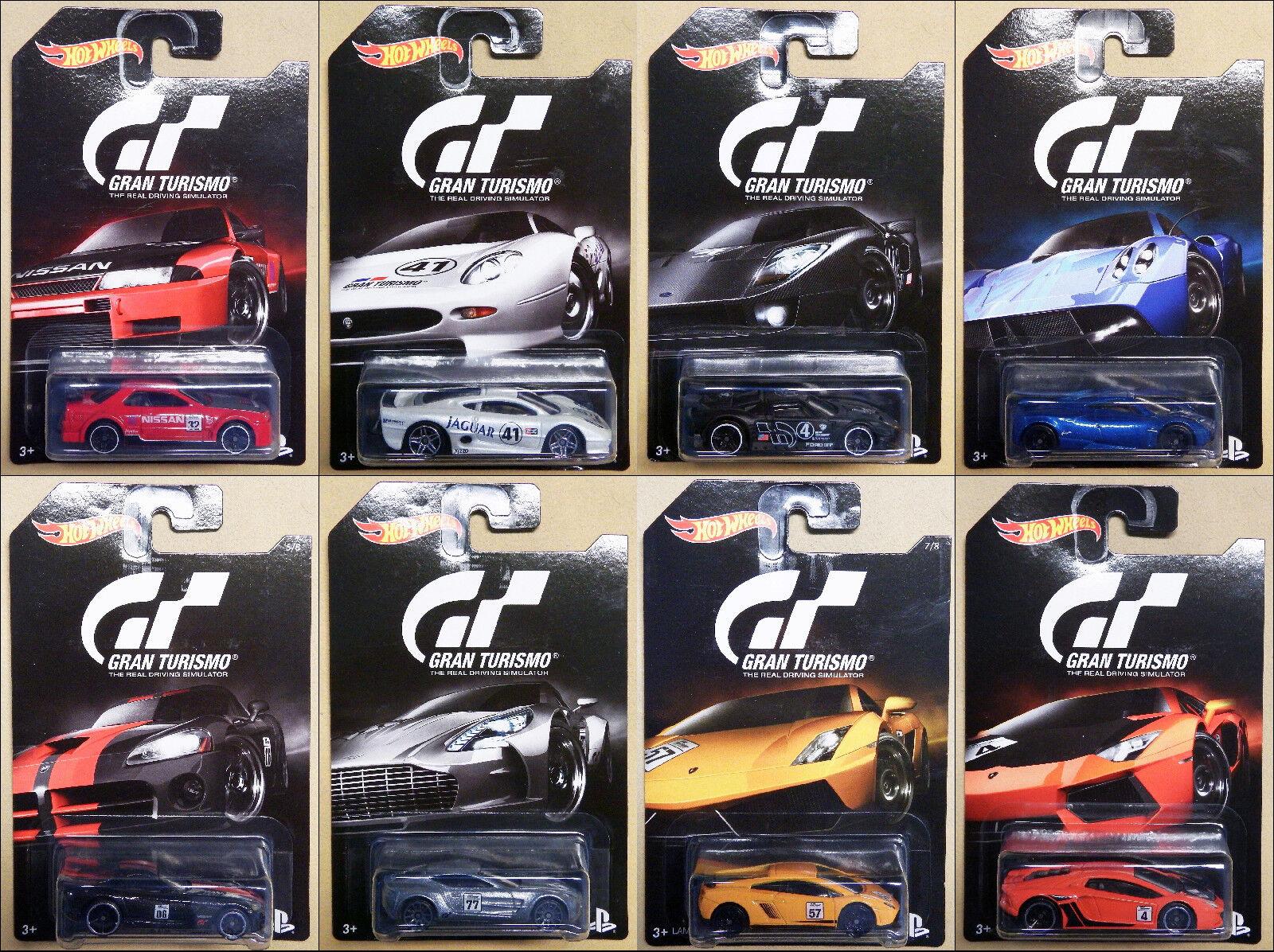 2016 Hot Wheels GRAN TURISMO Set of 8 Cars See Description