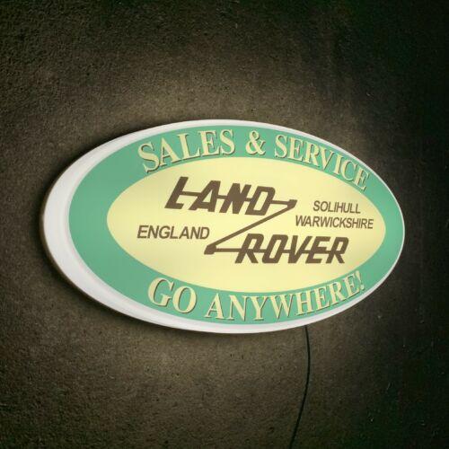 LAND ROVER DEFENDER 4X4 CAR LOGO LED LIGHT BOX GARAGE SIGN PETROL GASOLINE