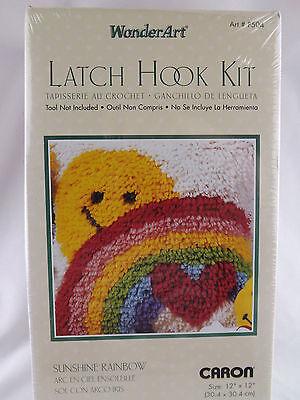 """Wonder Art Sunshine Rainbow Latch Hook Kit 12"""" x 12""""  New Sealed Caron"""