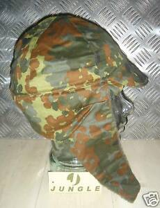 Size 61cms Genuine German Army Fleece Lined Flectarn Dog Hat with Ear warmers
