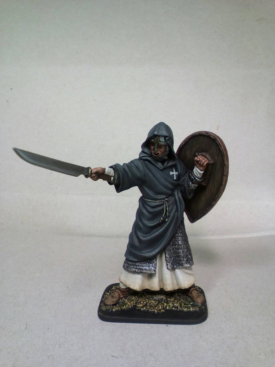 Lead soldier toy.Monk-knight, 12th cent,detailed toy,detailed,Elite.handpainted
