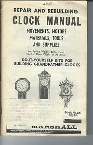 MG-013 - Marshall Clock Repair and Rebuilding Supply Catalog # 625, 1950's to 19