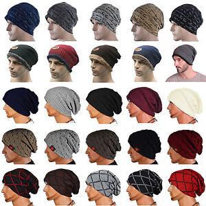 Men-Women-Unisex-Knit-Baggy-Beanie-Winter-Hat-Ski-Slouchy-Warm-Knitted-Cap-Skull