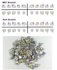 100x Dental Orthodontic Brackets Metal Braces Mini Roth Mbt 022 Slot 345 Hooks