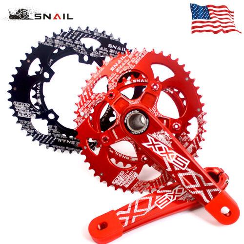 SNAIL 170mm Crank 110BCD 50//35T Chainwheel Road Folding Bike Crank set Chainring