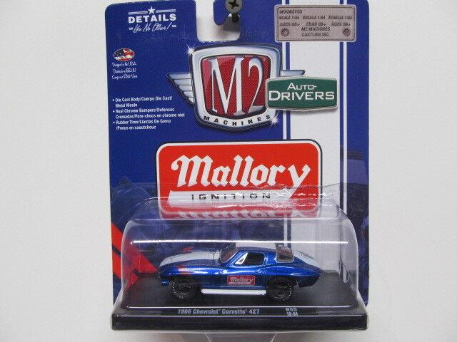 M2 Auto-Drivers Blue Mallory Ignition '66 Chevy Corvette 427 w/ Rubber Tires