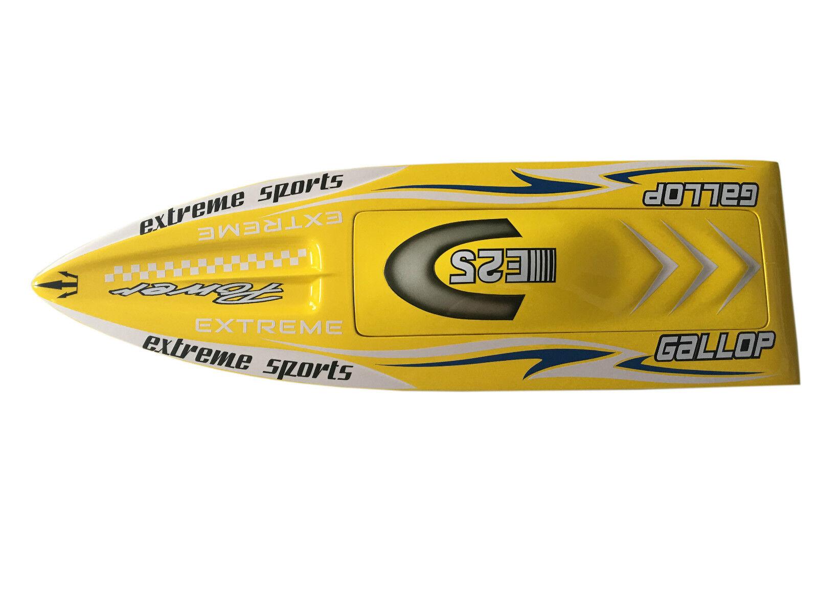 E25 Gallops välklädd elektrisk båtshall för avancerad spelare Monohhull YLW KIT