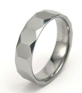 Men-039-s-Ring-Tungsten-Steel-Comfort-Fit-Band-Size-12-New