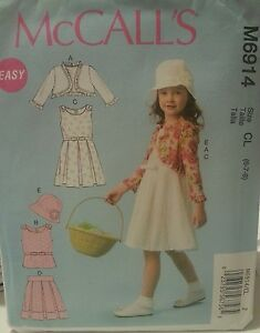 Details about M6914 New McCall's Easy Girls Fashion Sewing Patterns For  Sizes 6, 7, 8