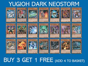 Buy 3 Get 1 Free DANE Choose your card YuGiOh Dark Neostorm All Rarities