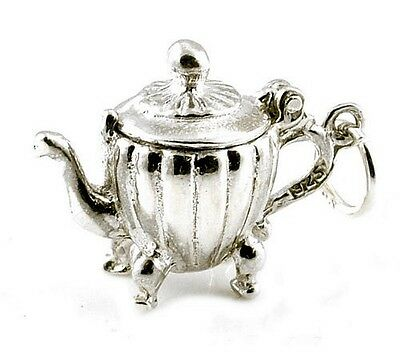 STERLING SILVER OPENING COFFEE POT CHARM