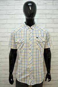 Camicia-Uomo-LEE-Regular-Fit-Taglia-2XL-Maglia-Manica-Corta-Shirt-Man-Casual