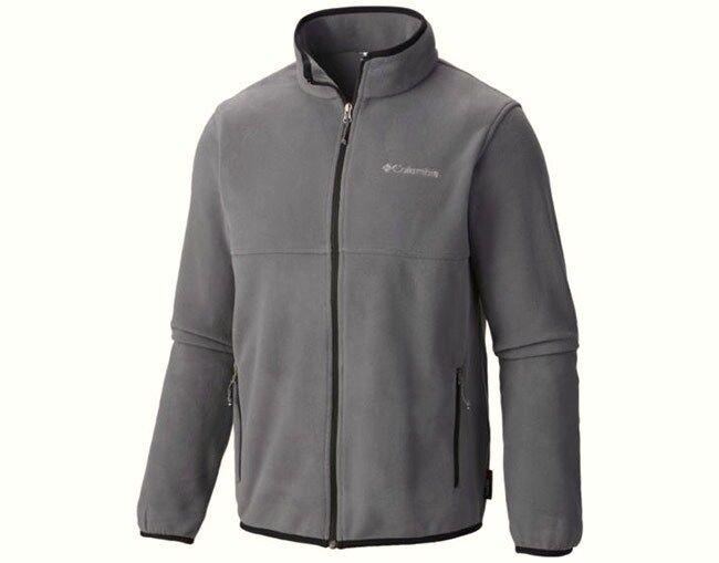 COLUMBIA Men's FULLER RIDGE ZIP Fleece - Graphite - Medium - NWT