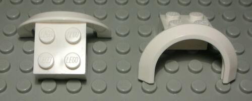 Lego Kotflügel Auto LKW 2x4x1 Weiss 2 Stück 1312