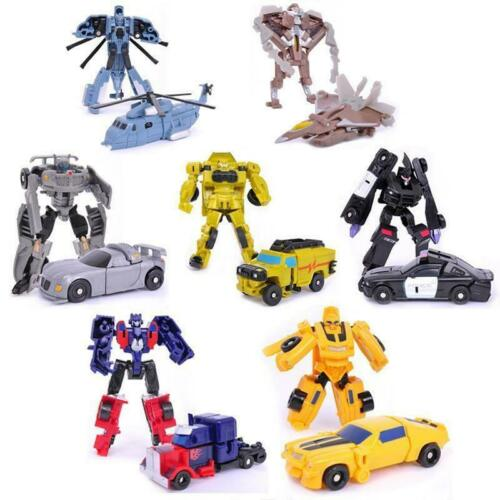 1-7PCS Transforming Toys Bee Prime Car Police  Vehicle helicopter plane robot UK