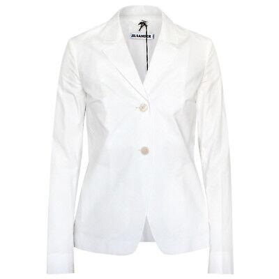 JIL SANDER $1,280 white cotton blazer lightweight Gaugin suit jacket 34-F/2 NEW