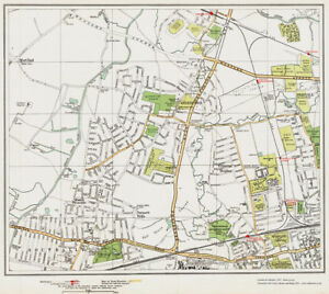 Greenford Southall north Map London 1932 5354 eBay