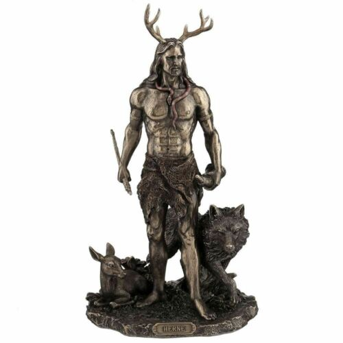 Altar Statue Wicca Witchcraft Herne and Animals Figurine Nemesis Now