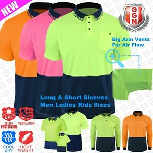 HI-VIS-POLO-SHIRT-TRADITIONAL-2-TONE-COOL-BREATHABLE-MICROMESH-SHORT-SLEEVE