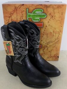 LAREDO-LC2430-CHILDREN-039-S-BLACK-SYNTHETIC-WESTERN-COWBOY-BOOTS-NEW-IN-BOX