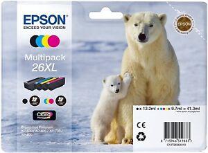 Epson-26XL-Multipack-T2636-Cartuchos-de-Tinta-Impresora-Nuevo-Emb-Orig