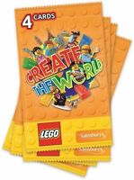 SAINSBURYS  LEGO CREATE THE WORLD TRADING CARDS UNOPENED PACKS
