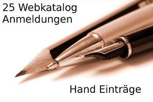 25 Webkatalog Anmeldungen - Link Aufbau SEO - Webseiten Besucher - Werbung PR