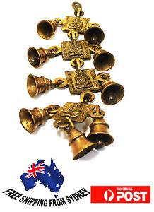 Home-Decoration-Hindu-God-Ganesh-Brass-Hanging-Bells-9-Bells-set