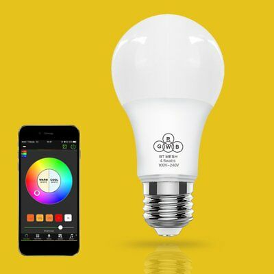 WIFI Smart Bulb E27 Super Bright Wifi APP Remote Control RGBW Timing Light UK