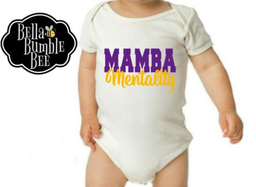 Kobe Bryant Inspired 519 Mamba Mentality Bodysuit for Boys Or Girls