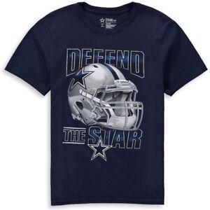 DALLAS COWBOYS NFL DCM MENS BLUE FIERCE HELMET DEFEND THE STAR SHIRT ... 2cce3094f