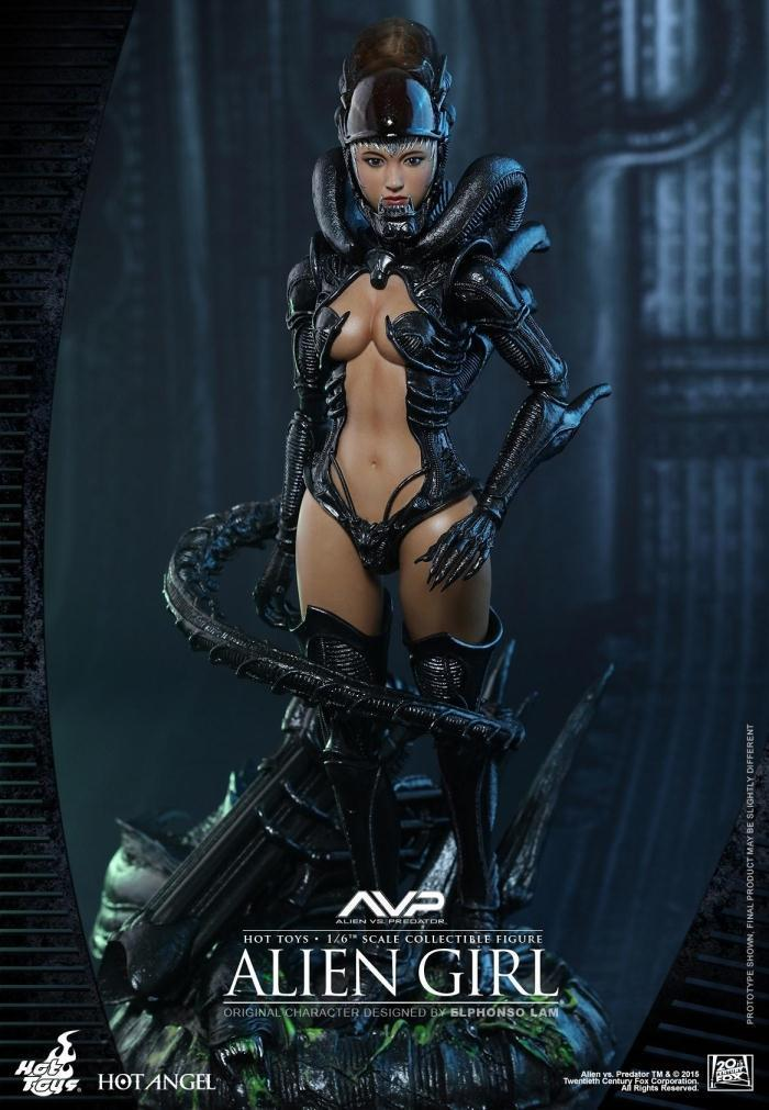 varmleksaker HT HAS002 1  6 Alien vs Prödator AVP varm Angel Alien Girl Figur modellllerlerl