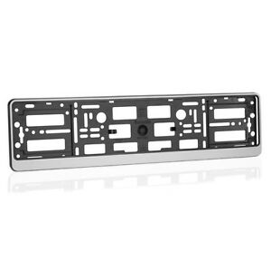 1x-Silver-ABS-Number-Plate-Surround-Holder-Frame-for-all-Car