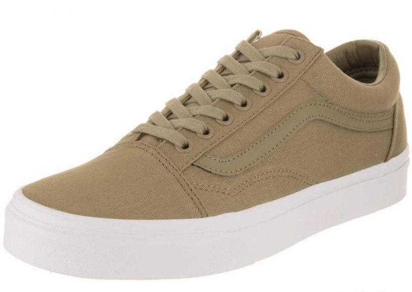 Tenis Vans clásicas Old Skool Mono Bajo Hombres Zapatos Oliva blancoo VN0A38G1QD9 Nuevo