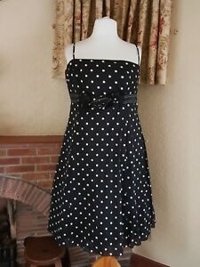 Black 18 Debut Dress Size Ball Polka Dot Gown Flower 20 Party rBarSzwq
