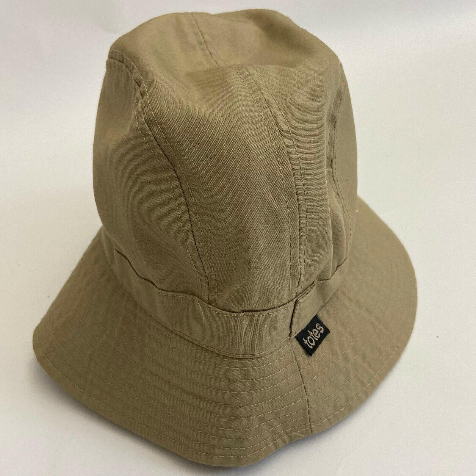 Vintage Totes Beige Womens Bucket Hat Cap outdoor hiking travel