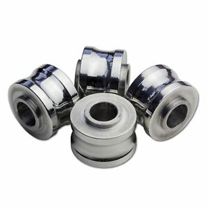 4x 10mm Motorcycle Black Spacers for Radial Brake Calipers Collar on each side
