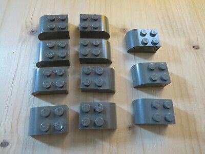 2x Lego Sat Schüssel alt-dunkel grau 4x4 Stein 1x2 Schirm Schild 30209