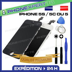 VITRE-TACTILE-IPHONE-5S-5C-5-ECRAN-LCD-SUR-CHASSIS-QUALITE-PREMIUM-OUTIL