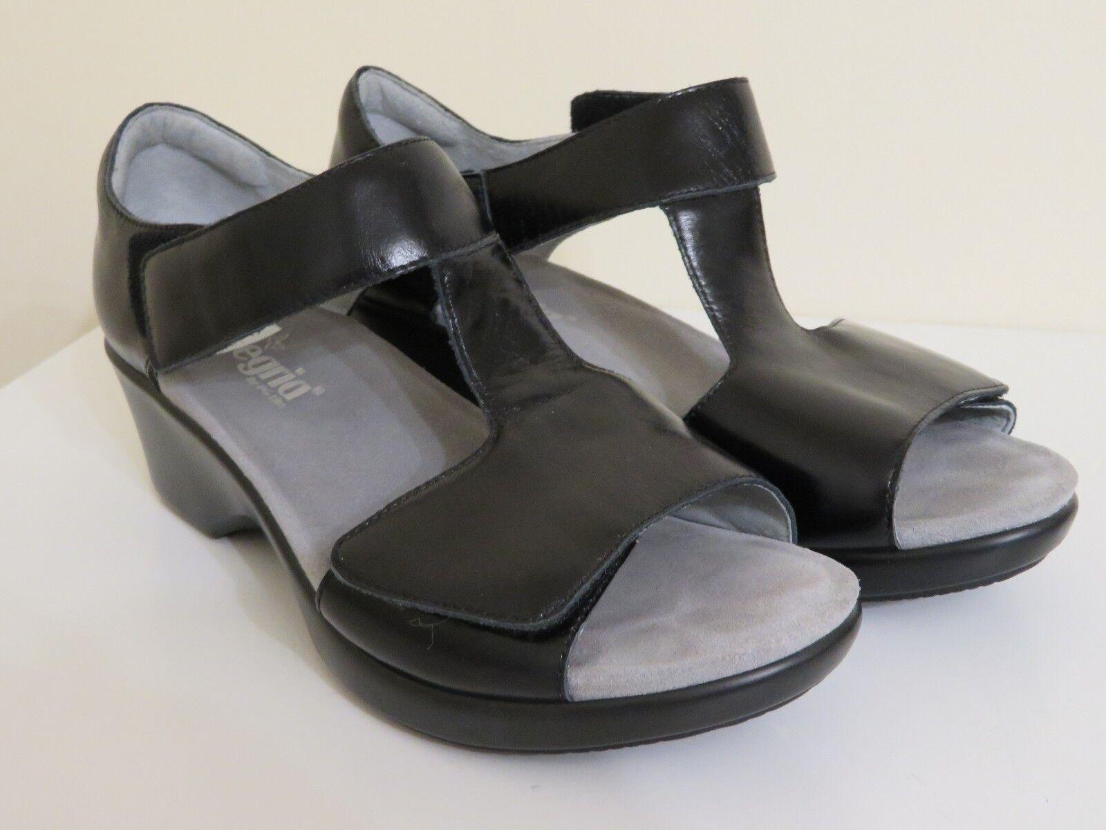 ALEGRIA LEATHER RIKI BLACK HEELED SANDAL Schuhe NEU 41 FITS 11 TO 11 1/2