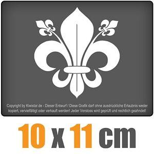 Lirio-frances-10-x-11-cm-JDM-decal-sticker-coche-car-blanco-discos-pegatinas