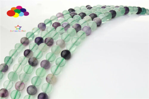Loose Charm 4//6//8//10//12mm Natural Agate Fluorite Round Spacer Beads N1018