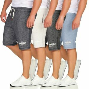 JACK-amp-JONES-Kurze-Hose-JJEMELANGE-Sweat-Shorts-4-Farben-S-bis-XXL